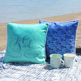 Blue Fish Printed Cushion