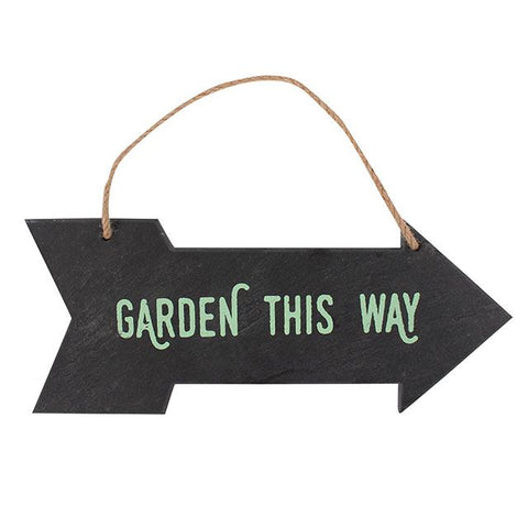 Slate Garden This Way Sign