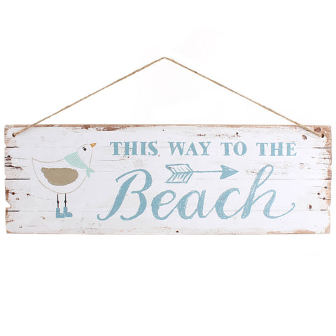 This Way To the Beach - Hanging Sign