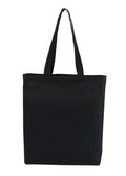 Canvas Tote Black With Bottom Only CN-200-BK