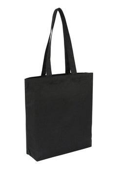 Cotton Tote Black With Bottom Only CT-200-BK