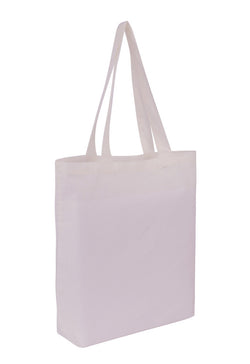 Cotton Tote With Base Gusset Only - White CT-200-WH