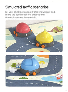 Tumama Pretend Play Stacking Toy Car Playmat