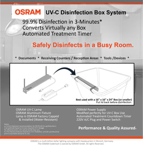 OSRAM UVC STERILIZER BOX SYSTEM (WITH ADJUSTABLE TIMER)