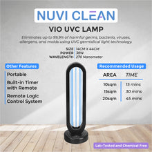 Load image into Gallery viewer, NUVI CLEAN VIO UVC GERMICIDAL TABLE LAMP