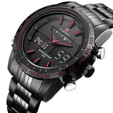 Luxury Water Resistant Steel Quartz Wristwatch - Mono Electronics