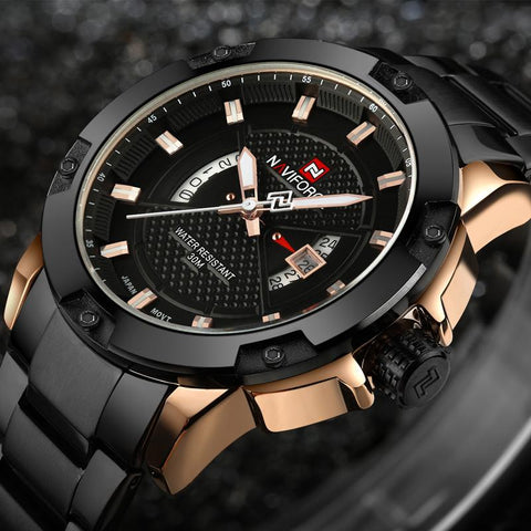 Luxury Steel Military Wristwatch - Mono Electronics