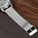 Silver Stylish Wristwatch - Mono Electronics
