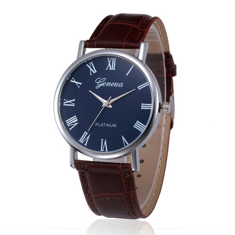 Luxury Analog Quartz Leather Wrist Watch
