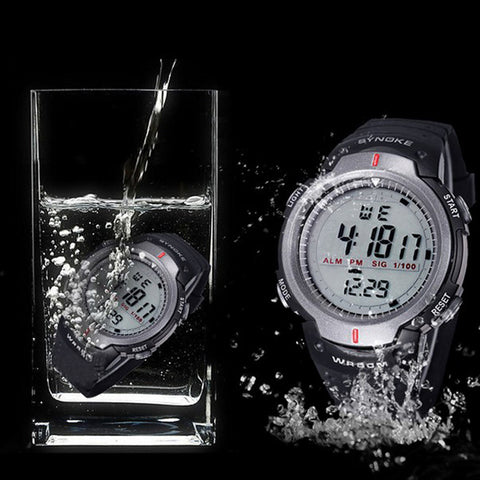 SYNOKE Watches Men 30M Waterproof Electronic LED Digital Watch