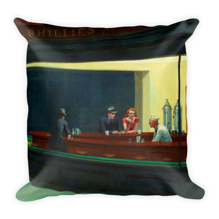 Edward Hopper - Nighthawks Pillow - C'monStore #Pillows
