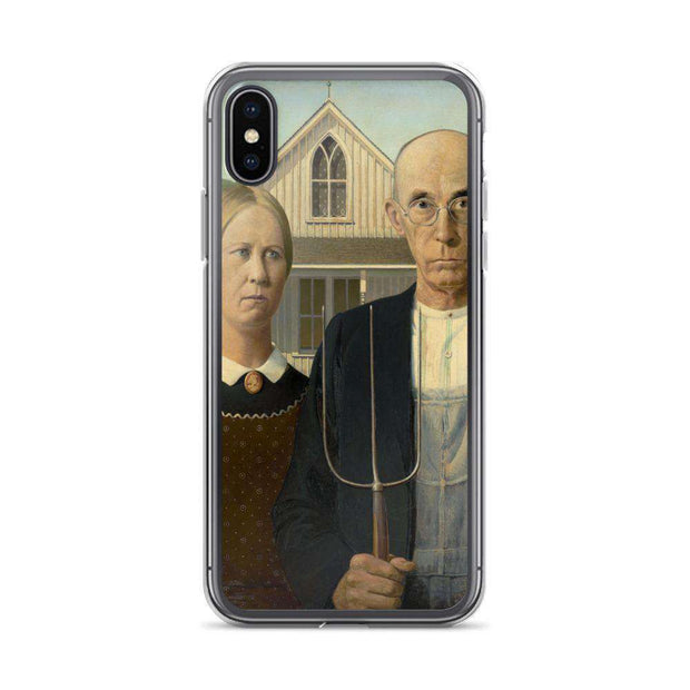 Grant Wood - American Gothic iPhone Case - C'monStore #Phone Cases