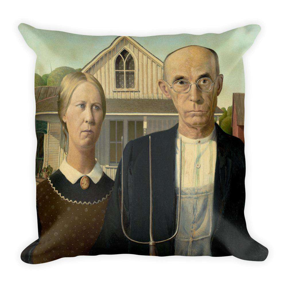 Grant Wood - American Gothic Pillow - C'monStore #Pillows