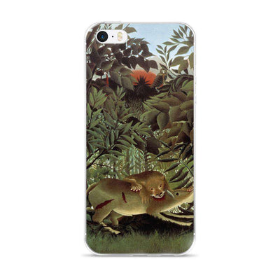 Henri Rousseau - The Hungry Lion Throws Itself on the Antelope iPhone Case - C'monStore #Phone Cases