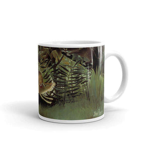 Henri Rousseau - The Hungry Lion Throws Itself on the Antelope Mug - C'monStore #Mugs