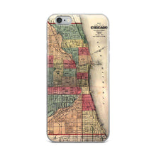 Historic Chicago Map (1875) iPhone Case - C'monStore #Phone Cases