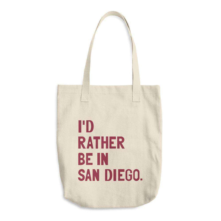 I'd Rather Be In San Diego Tote Bag - C'monStore #Tote Bags