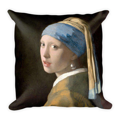 Johannes Vermeer - Girl with a Pearl Earring Pillow - C'monStore #Pillows