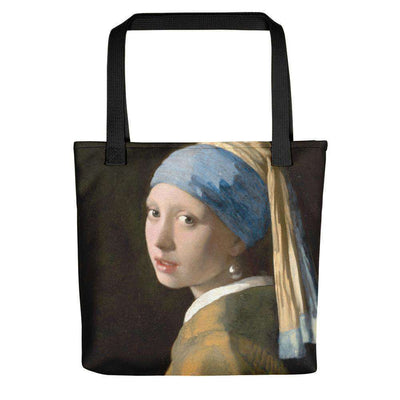 Johannes Vermeer - Girl with a Pearl Earring Tote Bag - C'monStore #Tote Bags