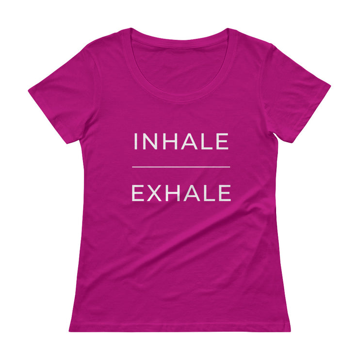 Inhale Exhale Women's Scoopneck T-Shirt - C'monStore #Shirts