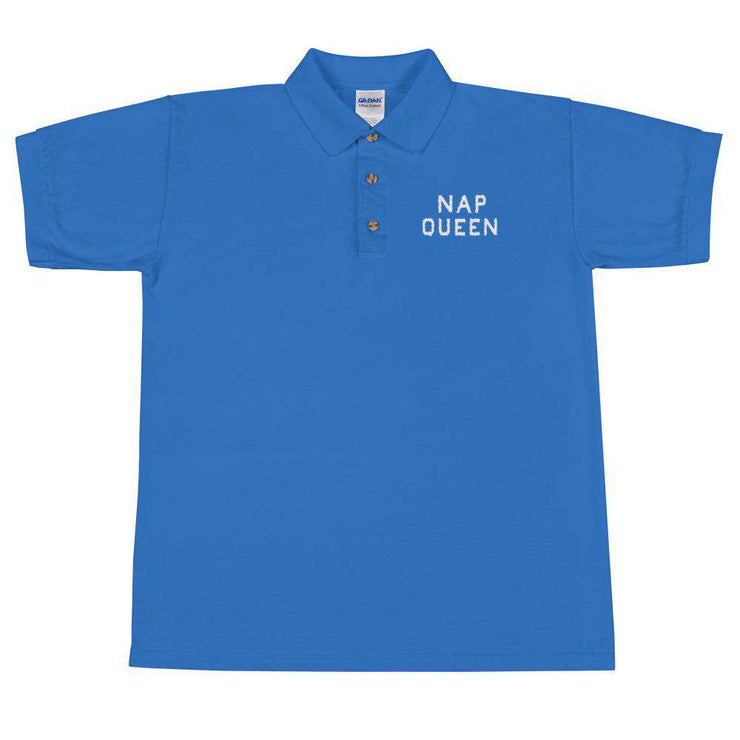 Nap Queen Embroidered Polo Shirt - C'monStore #Polo Shirts