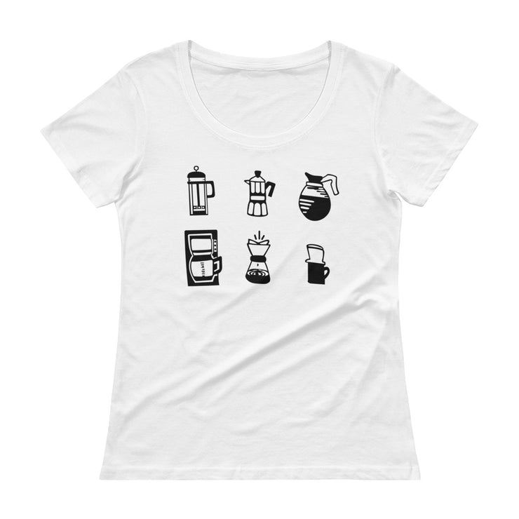 Coffee Women's Scoopneck T-Shirt - C'monStore #Shirts