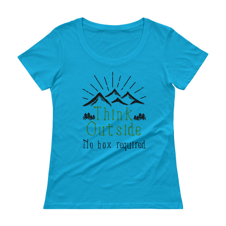 Think Outside Women's Scoopneck T-Shirt