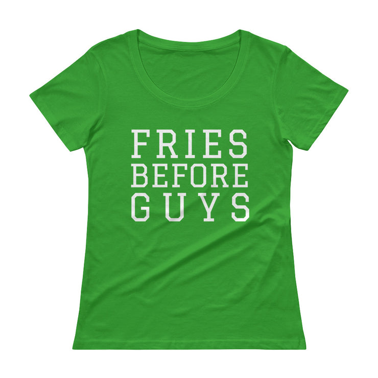 Fries Before Guys Women's Scoopneck T-Shirt - C'monStore #Shirts