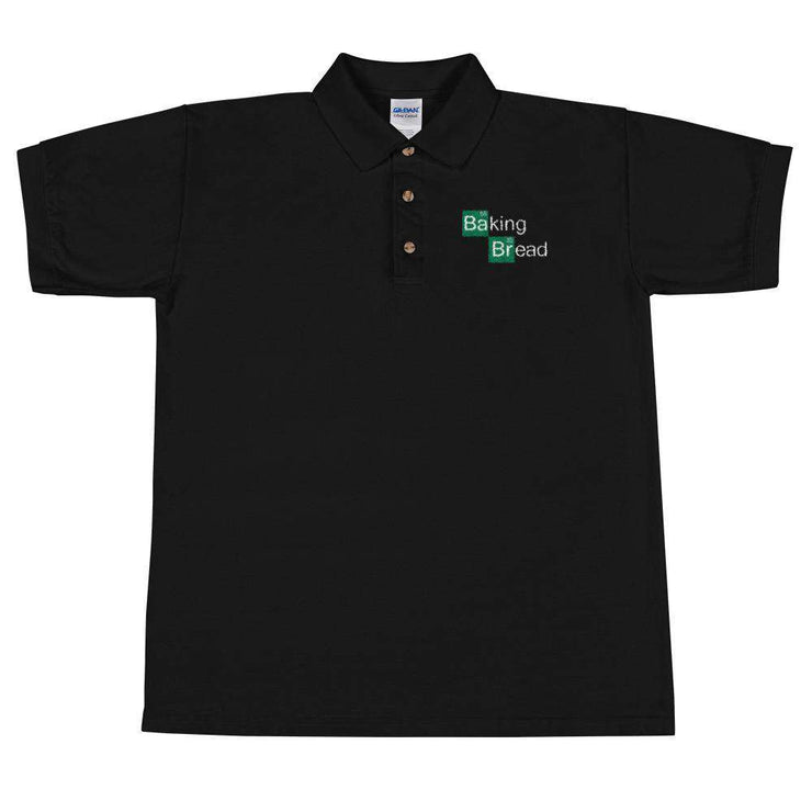 Baking Bread Embroidered Polo Shirt - C'monStore #Polo Shirts