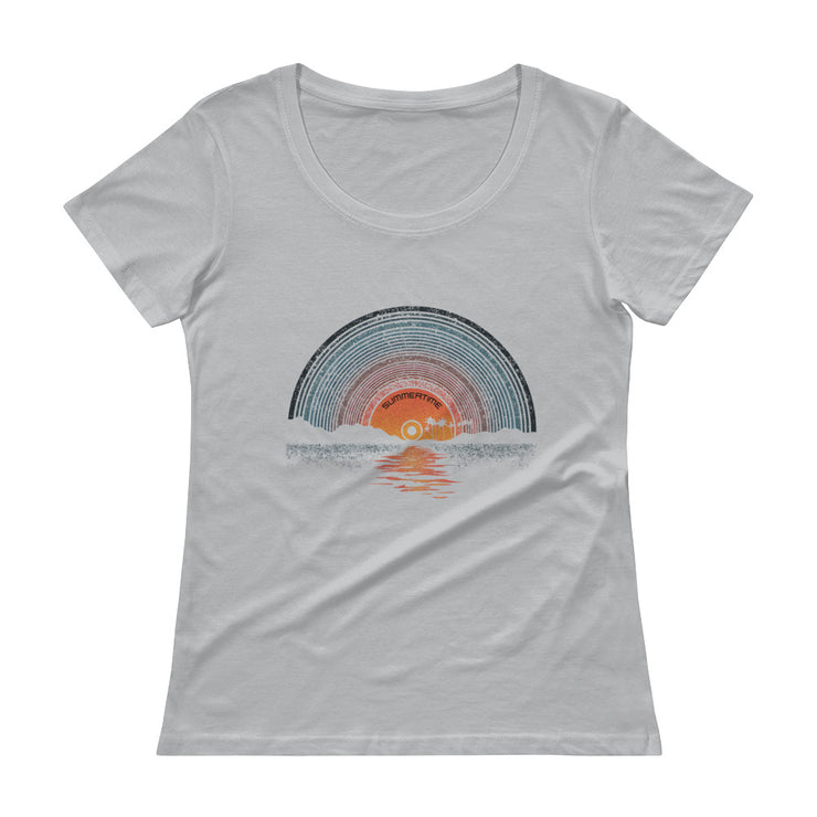 Summertime Women's Scoopneck T-Shirt