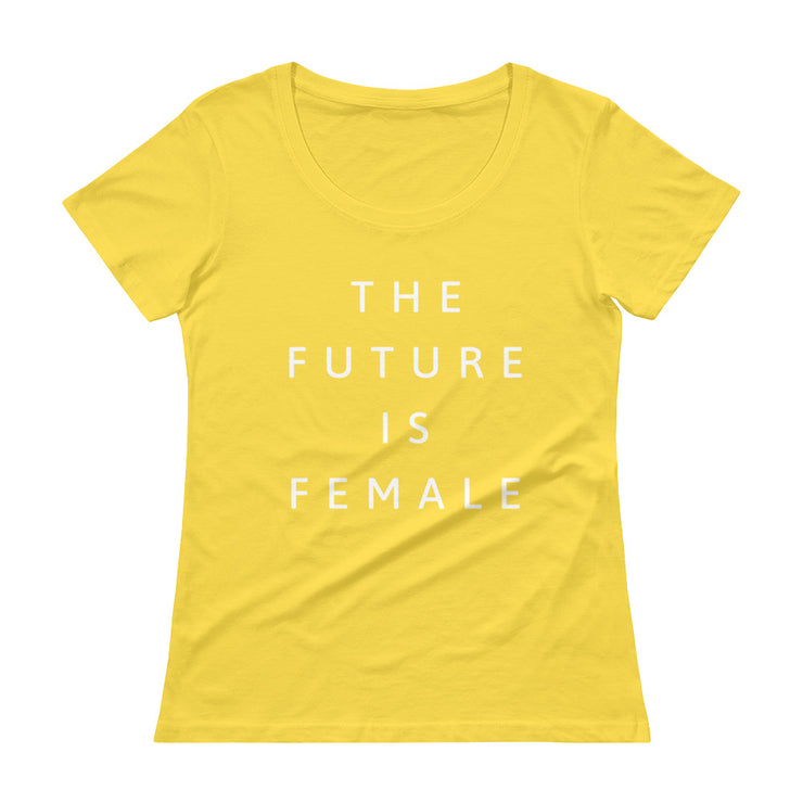 The Future Is Female Women's Scoopneck T-Shirt - C'monStore #Shirts