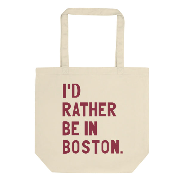 I'd Rather Be In Boston Tote Bag - C'monStore #Tote Bags
