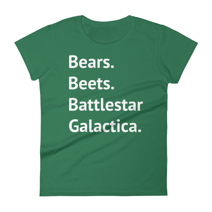 Bears. Beets. Battlestar Galactica Women's T-Shirt - C'monStore #Shirts