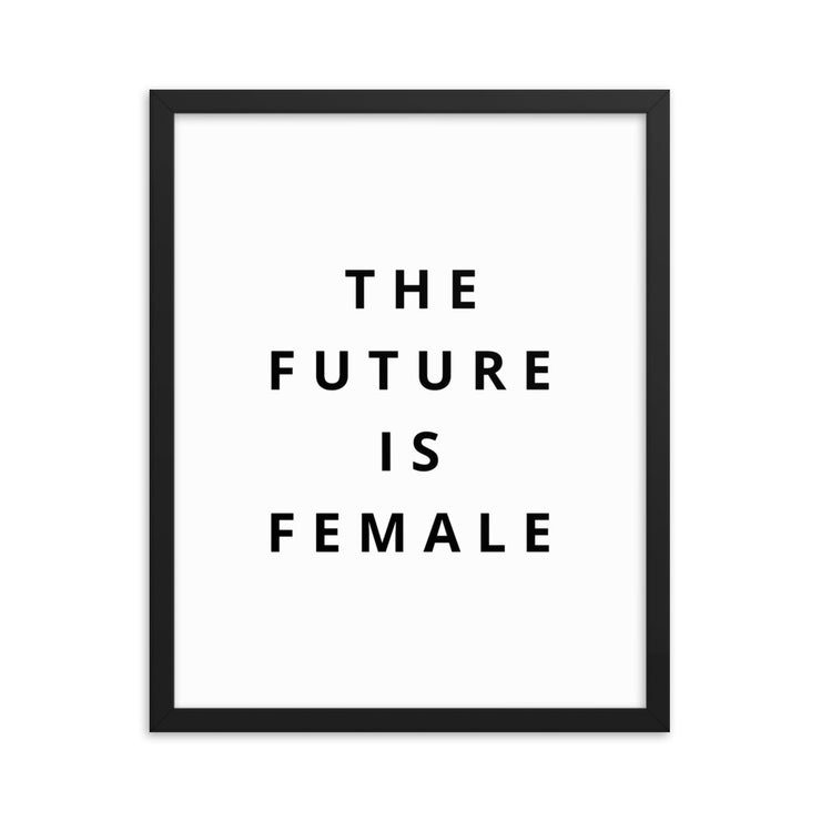 The Future Is Female Framed Poster - C'monStore #Wall Art