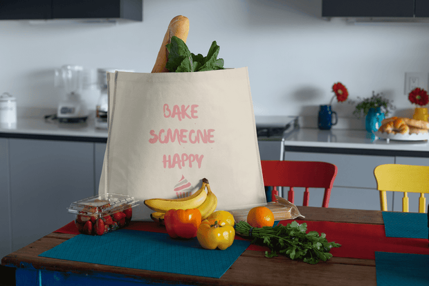 Bake Someone Happy Tote Bag - C'monStore #Tote Bags