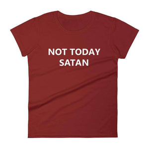 Not Today Satan Women's T-Shirt - C'monStore #Shirts