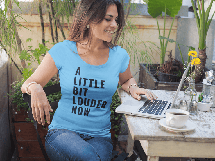 A Little Bit Louder Now Women's Scoopneck T-shirt - C'monStore #Shirts