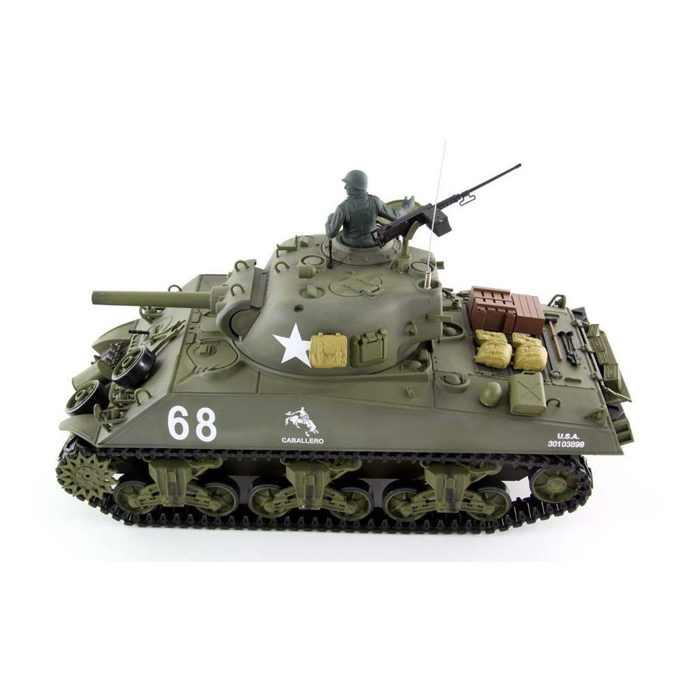 c0aa0c340a52 THE FURY Smoke   Sound 2.4Ghz M4A3 Sherman Radio Control RC Battle Tank