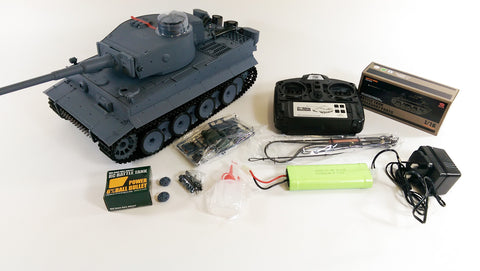 c5fe481c2d42 Heng Long 2.4GHZ German Tiger 1 Tank With SMOKE And SOUND Radio Control RC  Tank