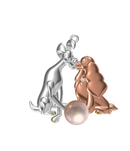 NEW Inspired Lady and The Tramp Pendant