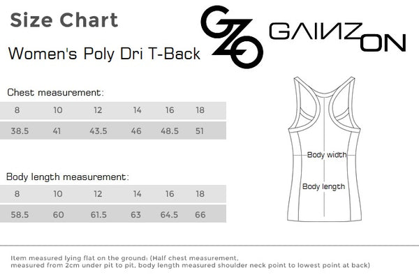 GZO Womens Poly Dri T-Back