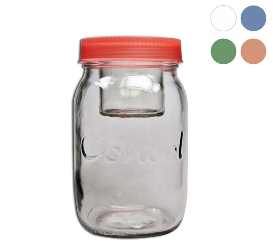 JAR-IN-JAR WITH ASSORTED COLOURED LIDS (1L) - DECO-Vie