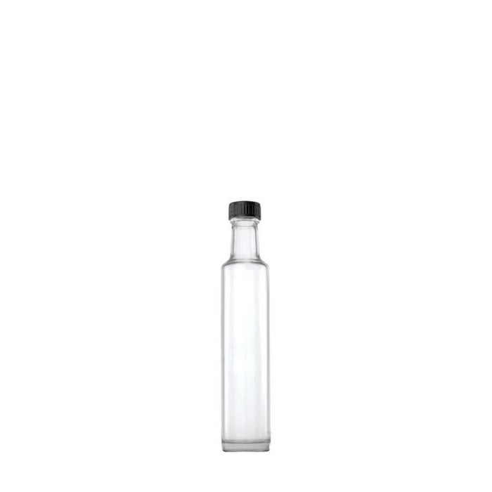 ROUND OIL & VINEGAR BOTTLE WITH BLACK LID (500ML)x6 - DECO-Vie