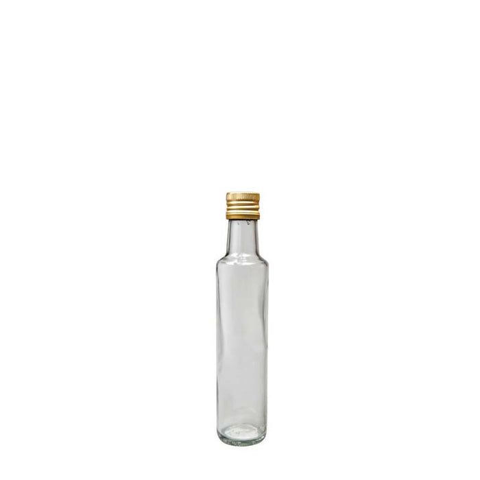 ROUND OIL & VINEGAR BOTTLE WITH GOLD LID (500ML)x6 - DECO-Vie