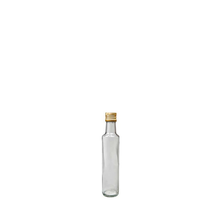 CONSOL ROUND OIL & VINEGAR BOTTLE WITH GOLD LID (250ML)x6 - DECO-Vie