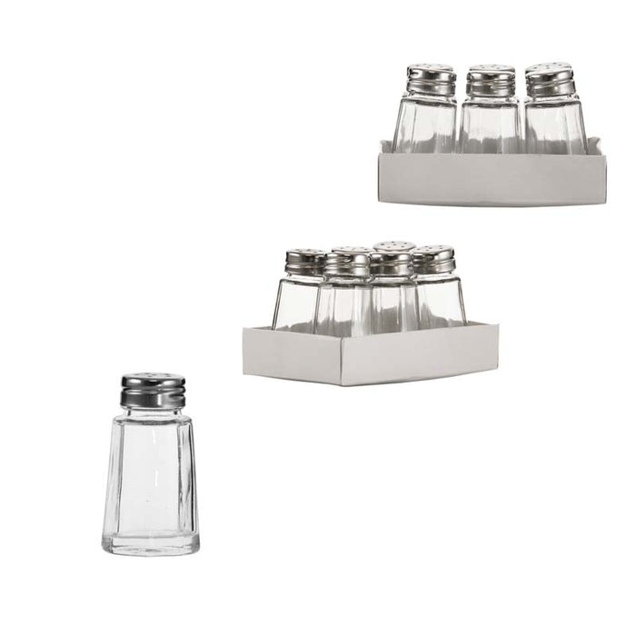 REGENT SALT & PEPPER GLASS SHAKERS, 6 PACK (35ML) - DECO-Vie