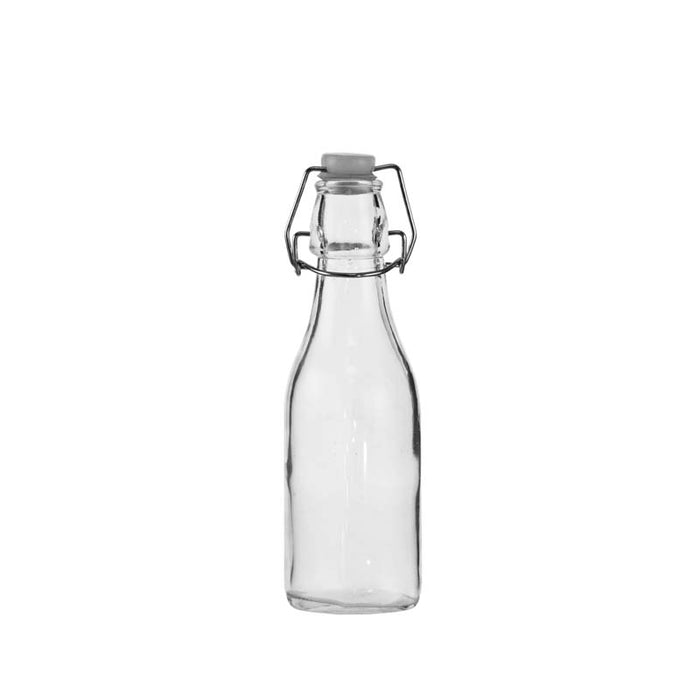 REGENT OIL & VINEGAR BOTTLE WITH WHITE CLIP-TOP LID, 6 PACK (250ML) - DECO-Vie