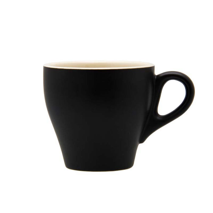 REGENT STONEWARE LONG BLACK CUP MATT BLACK COLOUR (220ML) - DECO-Vie