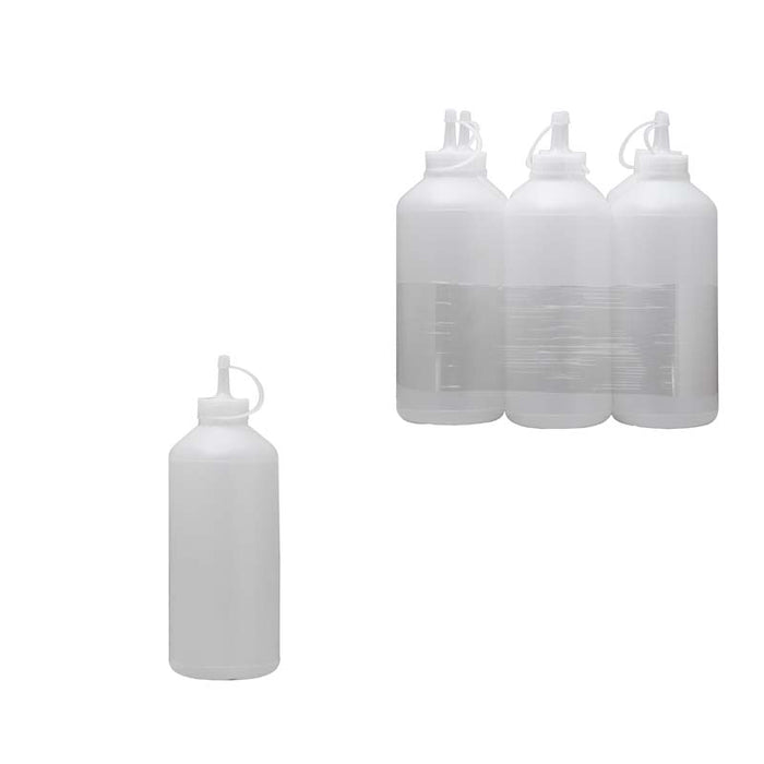 PLASTIC SAUCE BOTTLE WHITE, 6 PACK (1L) - DECO-Vie