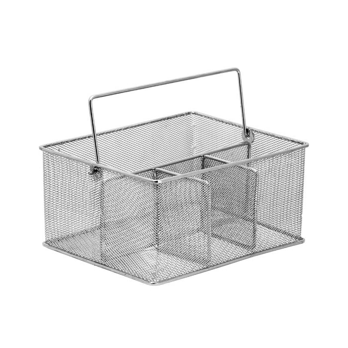 REGENT CHROME WIRE CUTLERY CADDY - DECO-Vie